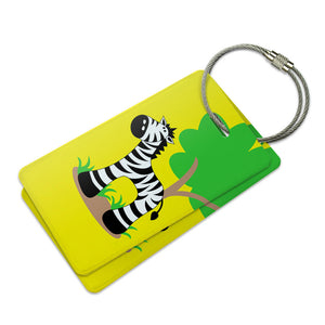 Zebra And Tree Cute Suitcase Bag ID Luggage Tag Set