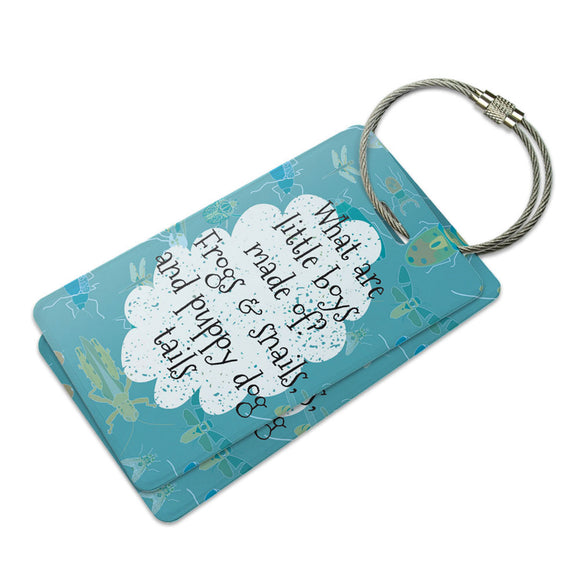What are Little Boys Made of Suitcase Bag ID Luggage Tag Set