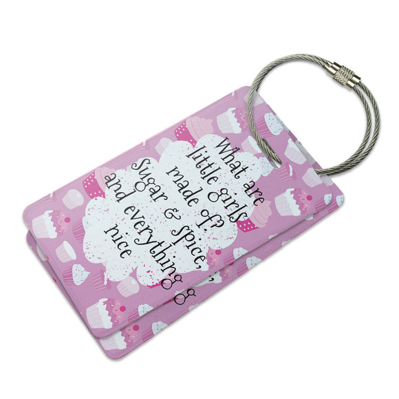 What are Little Girls Made of Suitcase Bag ID Luggage Tag Set