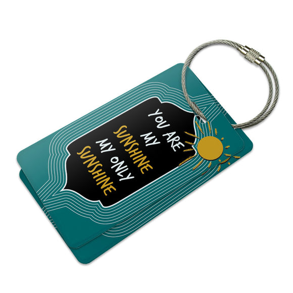 You Are My Sunshine Suitcase Bag ID Luggage Tag Set