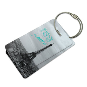 Paris France Eiffel Tower Suitcase Bag ID Luggage Tag Set