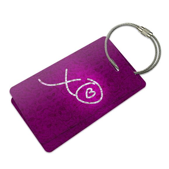 XO Hugs Kisses Love Suitcase Bag ID Luggage Tag Set