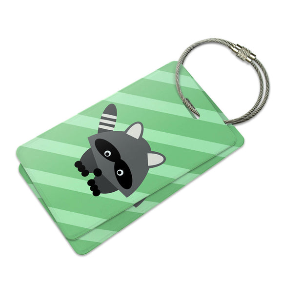 Woodland Raccoon Suitcase Bag ID Luggage Tag Set