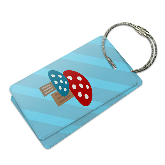 Woodland Mushrooms Suitcase Bag ID Luggage Tag Set