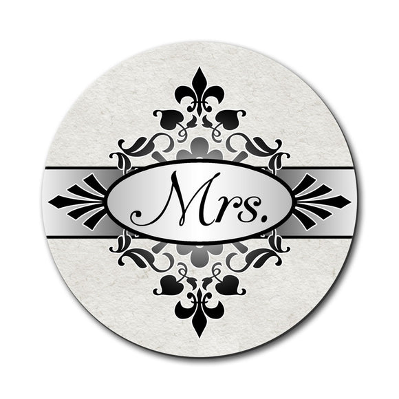 Mrs on Floral Pattern Bride Woman Hers Wife Mouse Pad