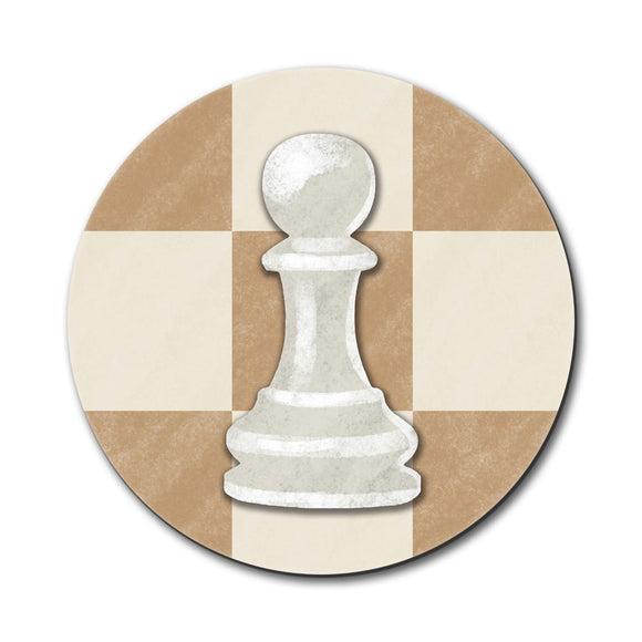 White Pawn Chess Set Mouse Pad