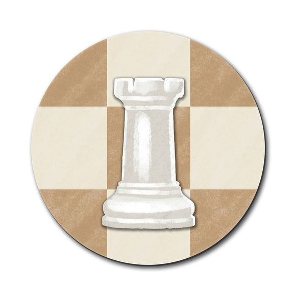 White Rook Chess Set Mouse Pad