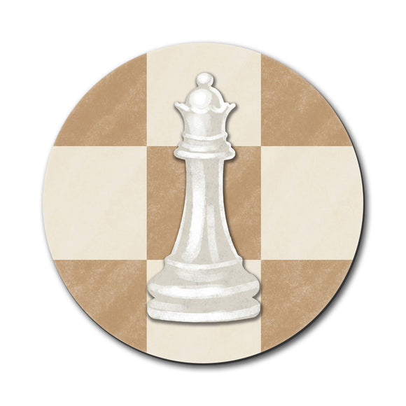 White Queen Chess Set Mouse Pad