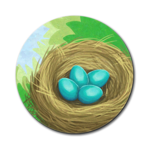 Robin's Nest with Eggs Mouse Pad