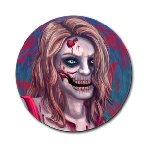 Zombified Girl Mouse Pad