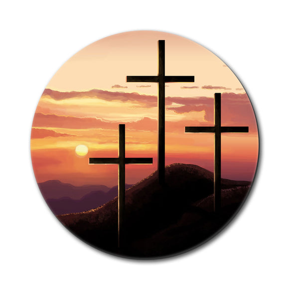 Three Crosses on Hill Mouse Pad