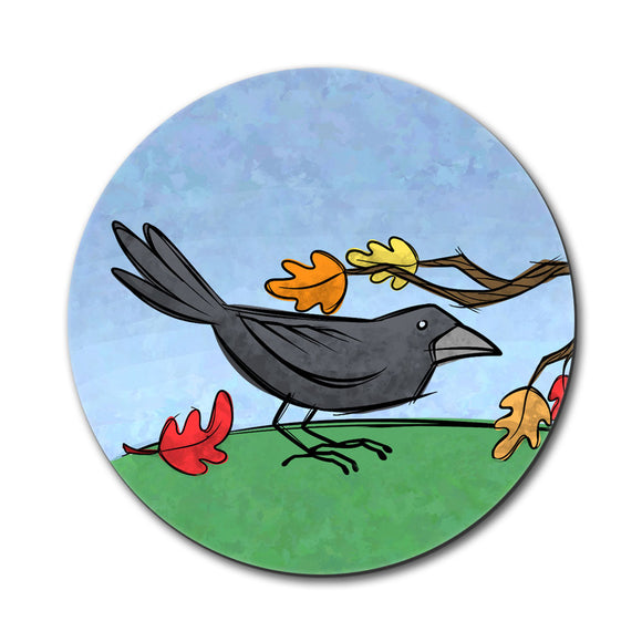 Crow in Autumn Mouse Pad