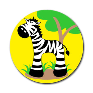 Zebra And Tree Cute Mouse Pad