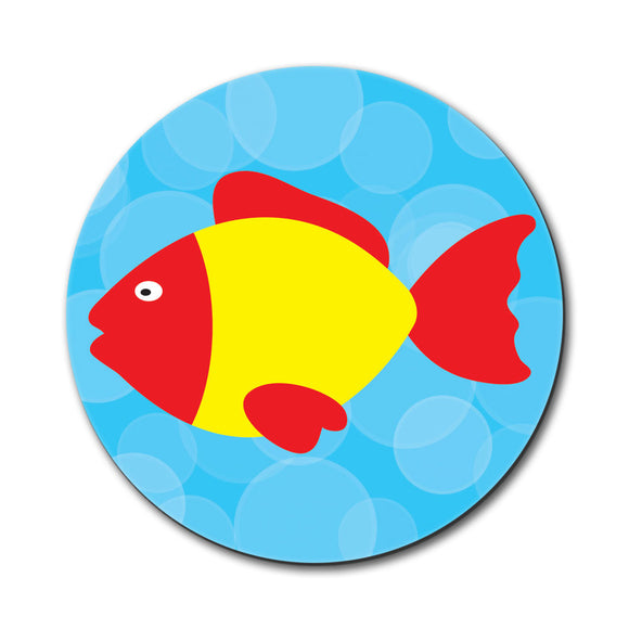 Tropical Fish Red Yellow Mouse Pad