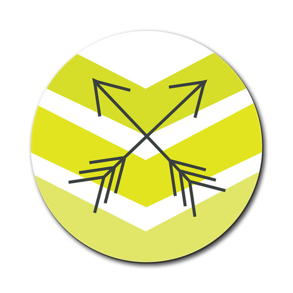 Yellow Chevrons & Arrows Mouse Pad