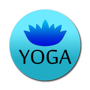Yoga Lotus Flower Mouse Pad