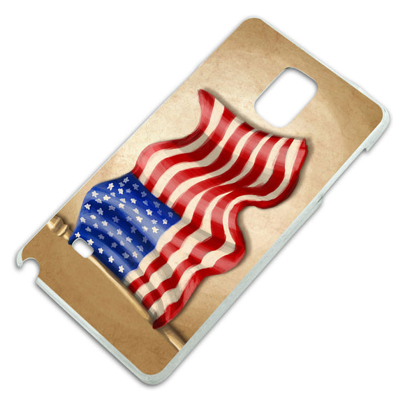 Vintage American Flag Slim Fit Hard Case Fits Samsung Galaxy Note 4
