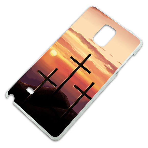 Three Crosses on Hill Slim Fit Hard Case Fits Samsung Galaxy Note 4