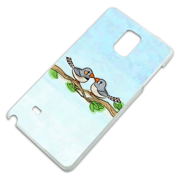 Zebra Finches Kissing Slim Fit Hard Case Fits Samsung Galaxy Note 4
