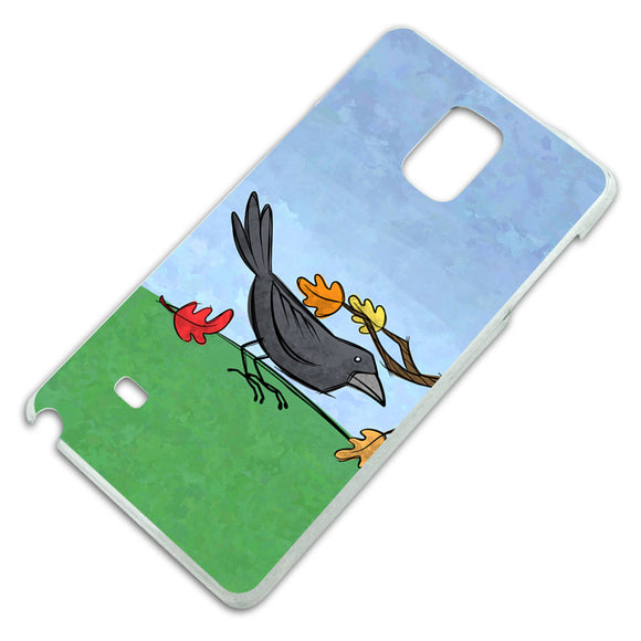 Crow in Autumn Slim Fit Hard Case Fits Samsung Galaxy Note 4