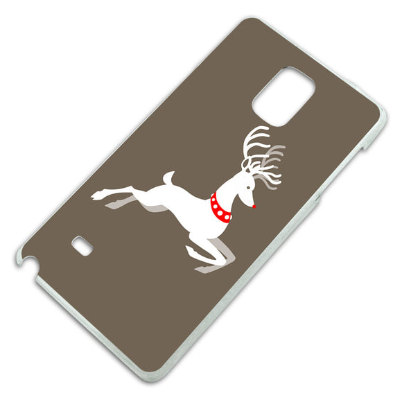 Prancing Reindeer Christmas Slim Fit Hard Case Fits Samsung Galaxy Note 4
