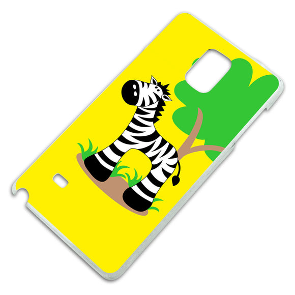 Zebra And Tree Cute Slim Fit Hard Case Fits Samsung Galaxy Note 4