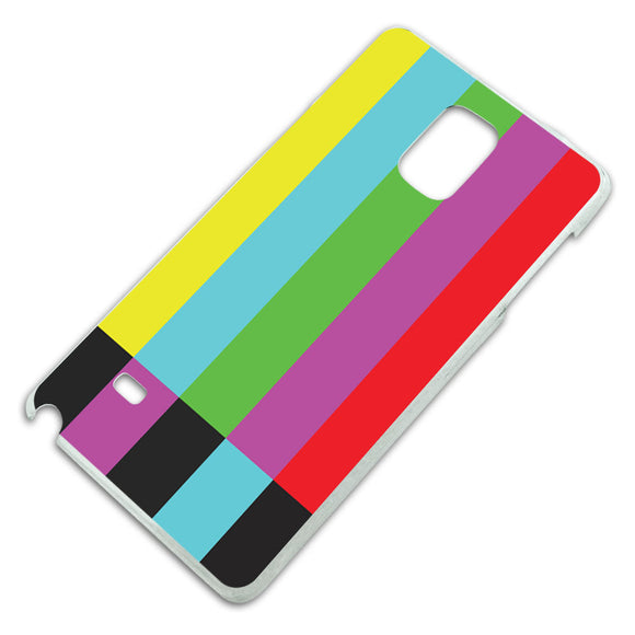 Test Television Color Bars Slim Fit Hard Case Fits Samsung Galaxy Note 4
