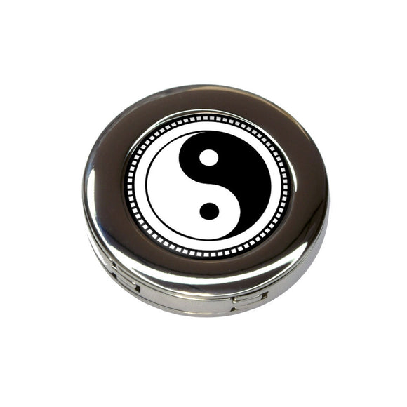 Yin Yang Symbol Foldable Retractable Purse Bag Handbag Hook Hanger Holder