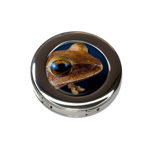 Tree Frog Closeup Eyeball Foldable Purse Handbag Hook Hanger Holder