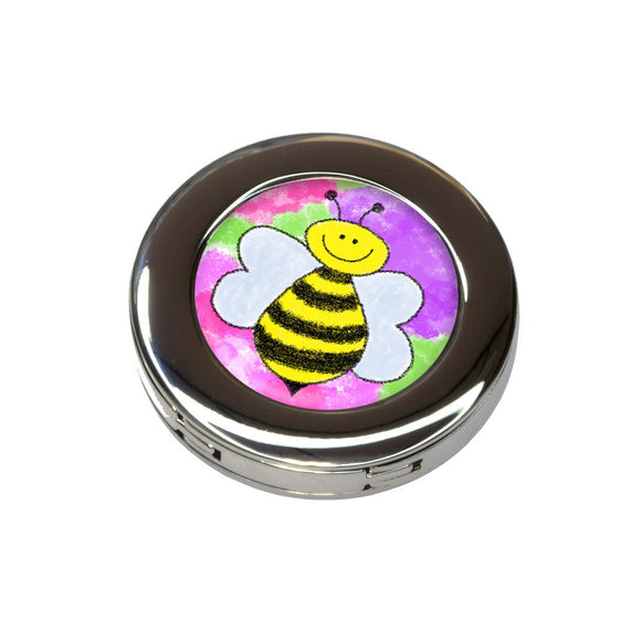 Busy As A Bee Watercolor Foldable Purse Handbag Hook Hanger Holder