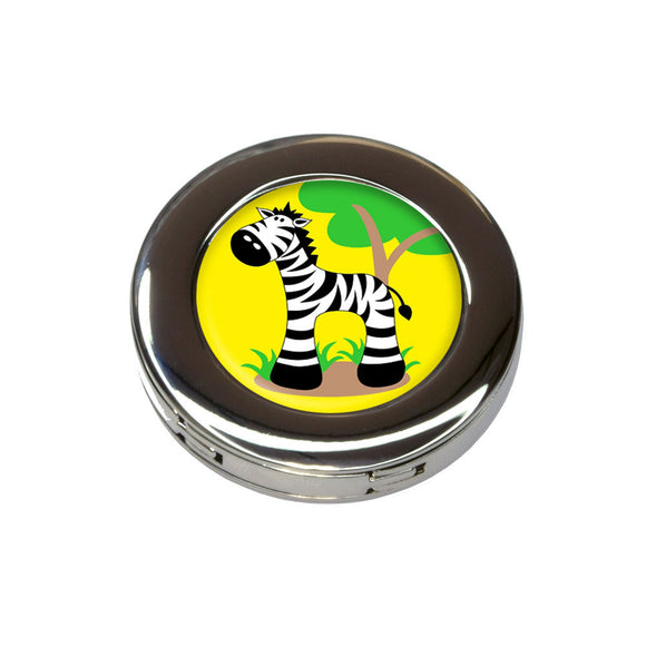Zebra And Tree Cute Foldable Retractable Purse Bag Handbag Hook Hanger Holder