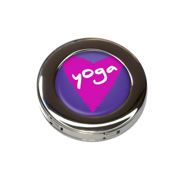 Yoga In Love Foldable Retractable Purse Bag Handbag Hook Hanger Holder