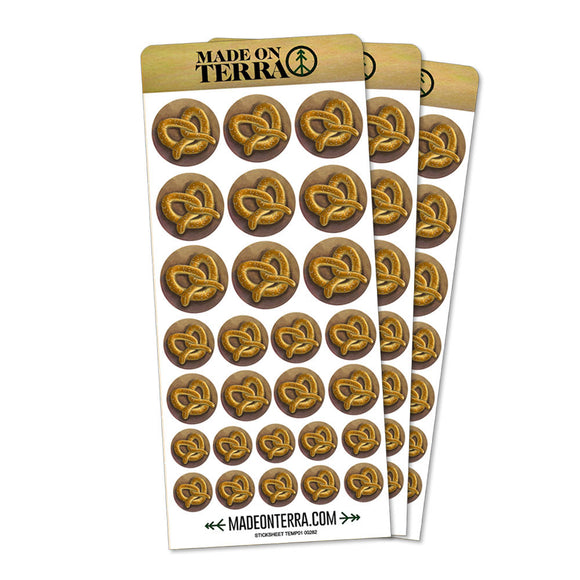 German Soft Pretzel Removable Matte Sticker Sheets Set