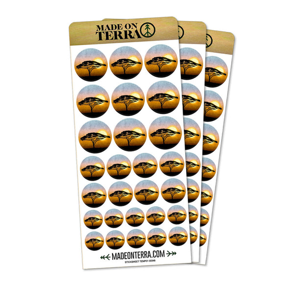 African Plains Removable Matte Sticker Sheets Set