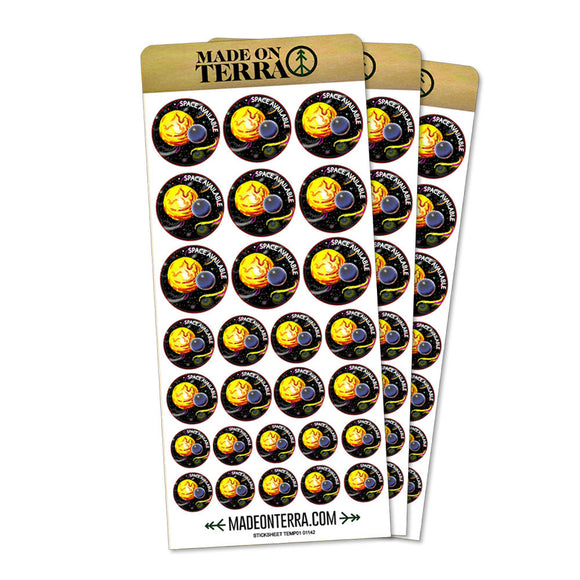 Planets Space Available Sun Moon Stars Removable Matte Sticker Sheets Set