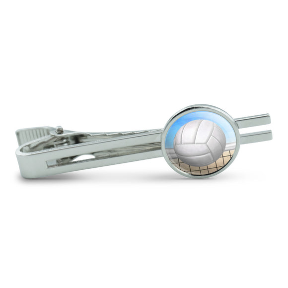 Sporty Volleyball Men's Tie Clip Tack Bar