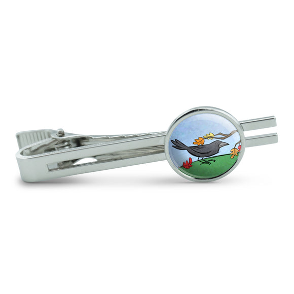 Crow in Autumn Men's Tie Clip Tack Bar
