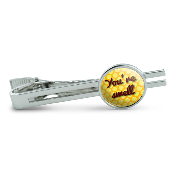 You're Swell Polka Dot Fun and Friends Men's Tie Clip Tack Bar