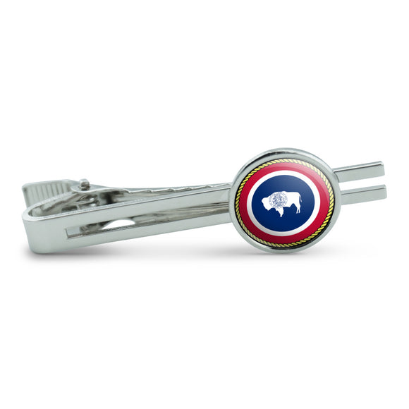 Wyoming State Flag Men's Tie Clip Tack Bar