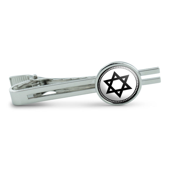 Star of David Men's Tie Clip Tack Bar