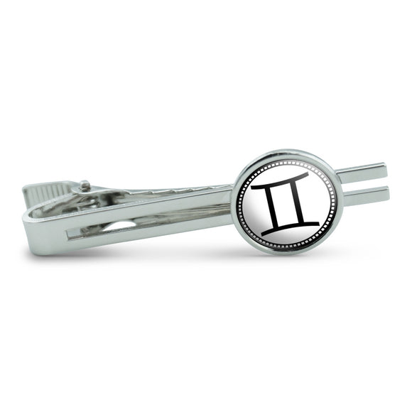 Zodiac Sign Gemini Men's Tie Clip Tack Bar
