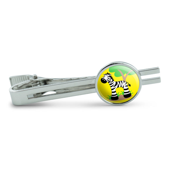 Zebra And Tree Cute Men's Tie Clip Tack Bar