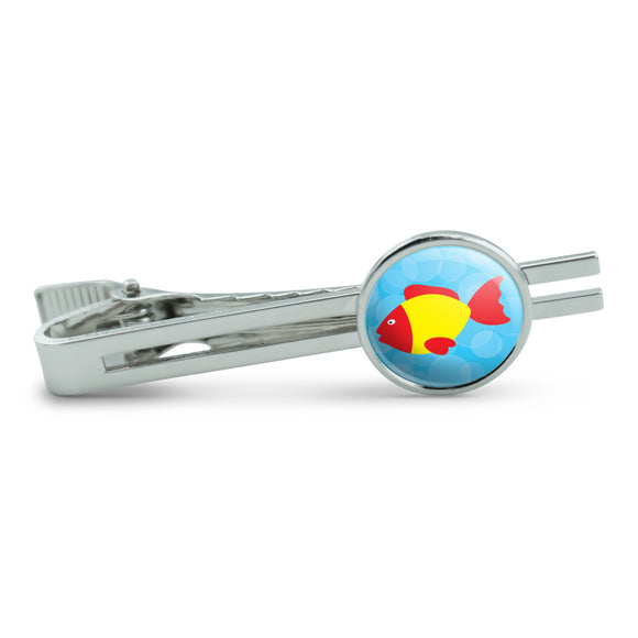 Tropical Fish Red Yellow Men's Tie Clip Tack Bar