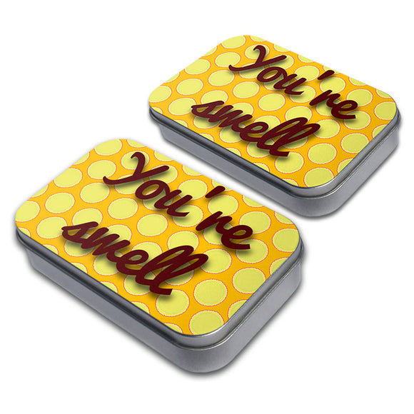 You're Swell Polka Dot Fun and Friends Craft Trinket Metal Tin Box Set of 2