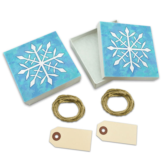 Snowflake White Gift Boxes Set of 2