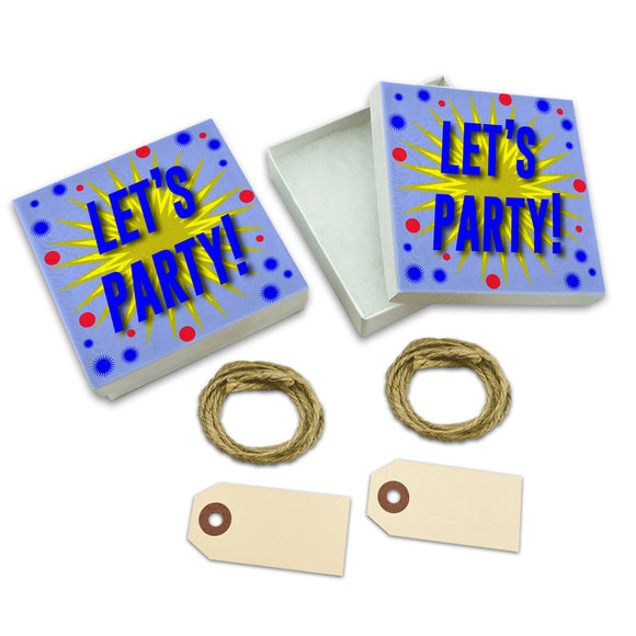 Let's Party! A Celebration White Gift Boxes Set of 2