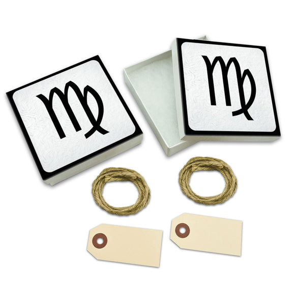 Zodiac Sign Virgo White Gift Boxes Set of 2