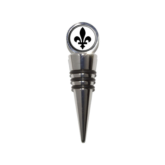 Fleurs de lis Wine Bottle Stopper Cork