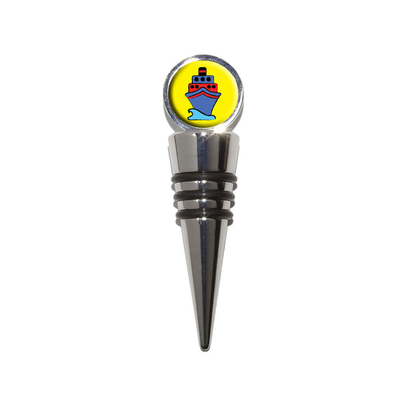 Cruise Ship Travel Ahoy Wine Bottle Stopper Cork