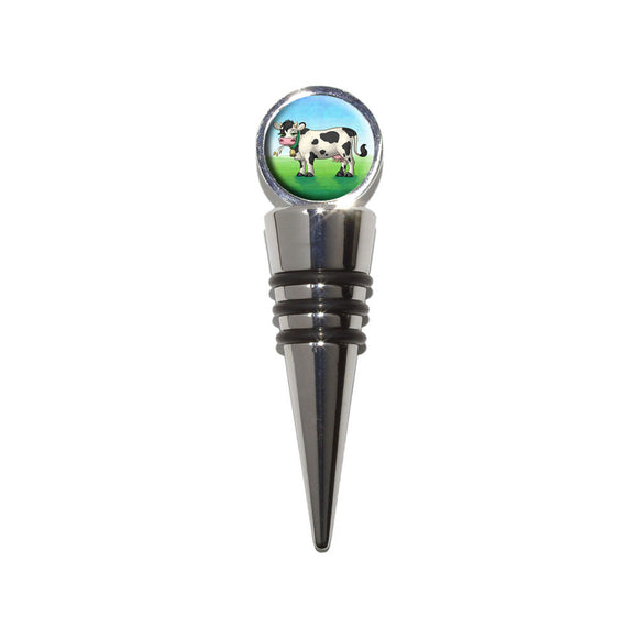Cow in a Field Wine Bottle Stopper Cork